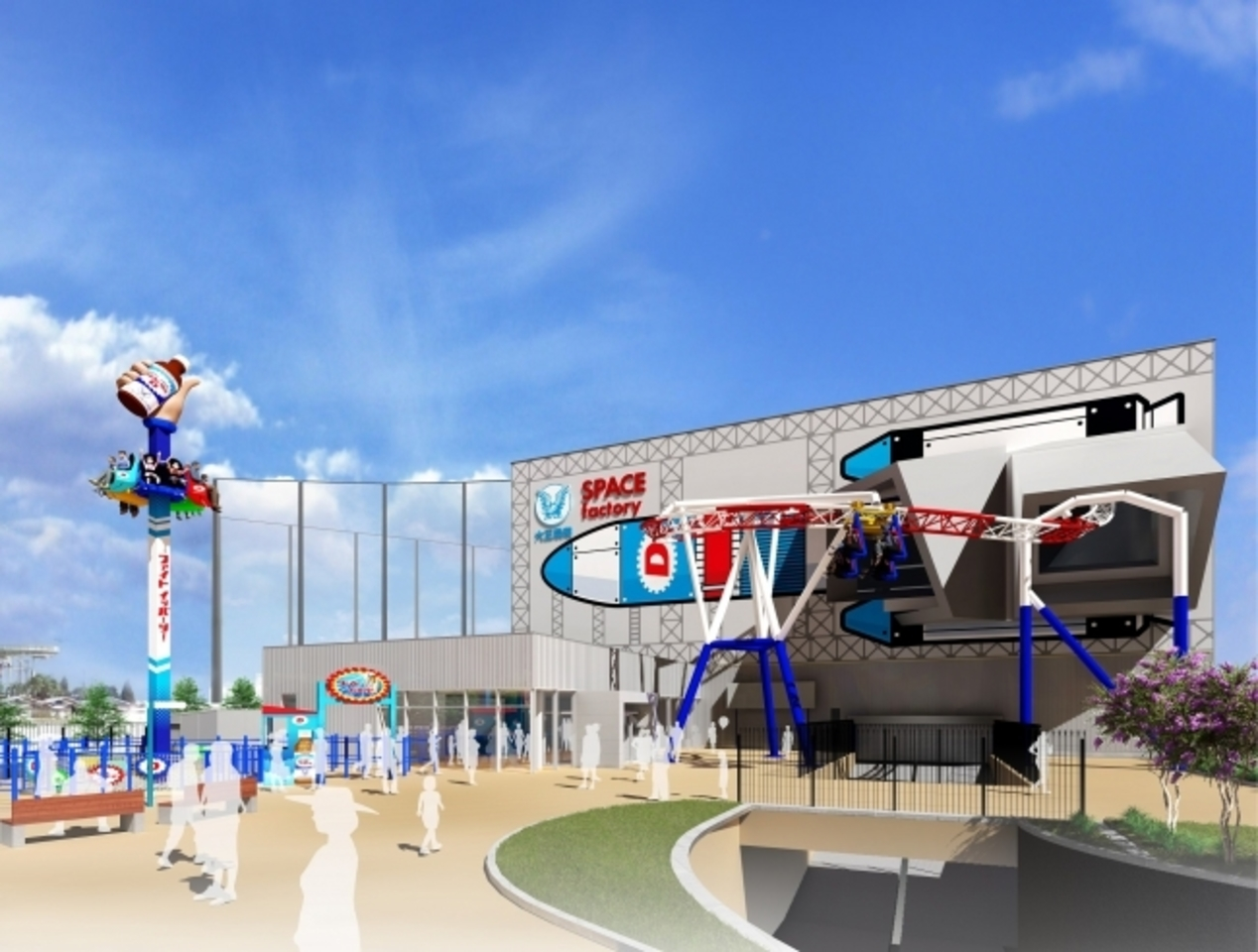よみうりランド遊園地エリアのグッジョバ!!に「SPACE factory」2021年春誕生!