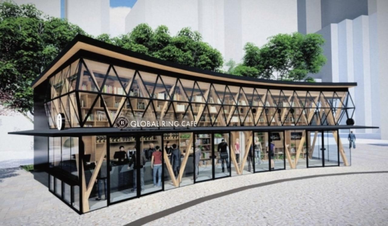 東京の池袋西口公園内に観光案内窓口を備えた「グローバルリングカフェ」11月25日オープン!