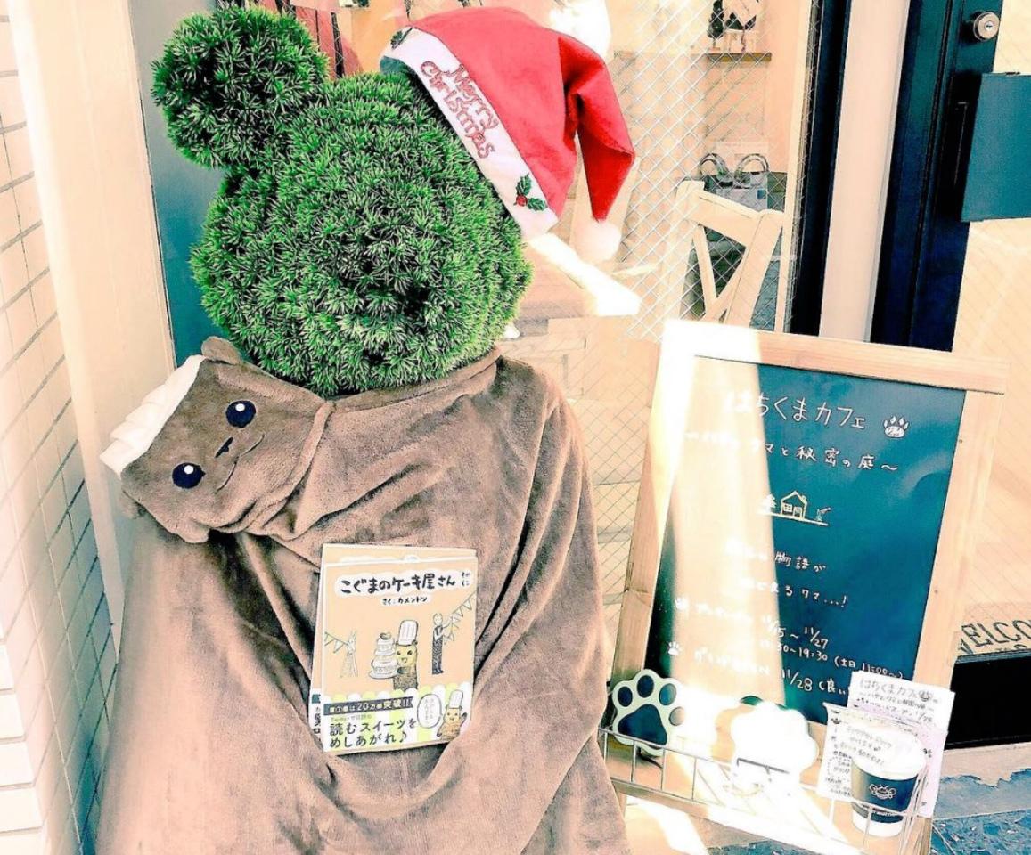 豊島区雑司が谷3丁目に「はちくまカフェ〜ハチとクマと秘密の庭〜」本日グランドオープンのようです。