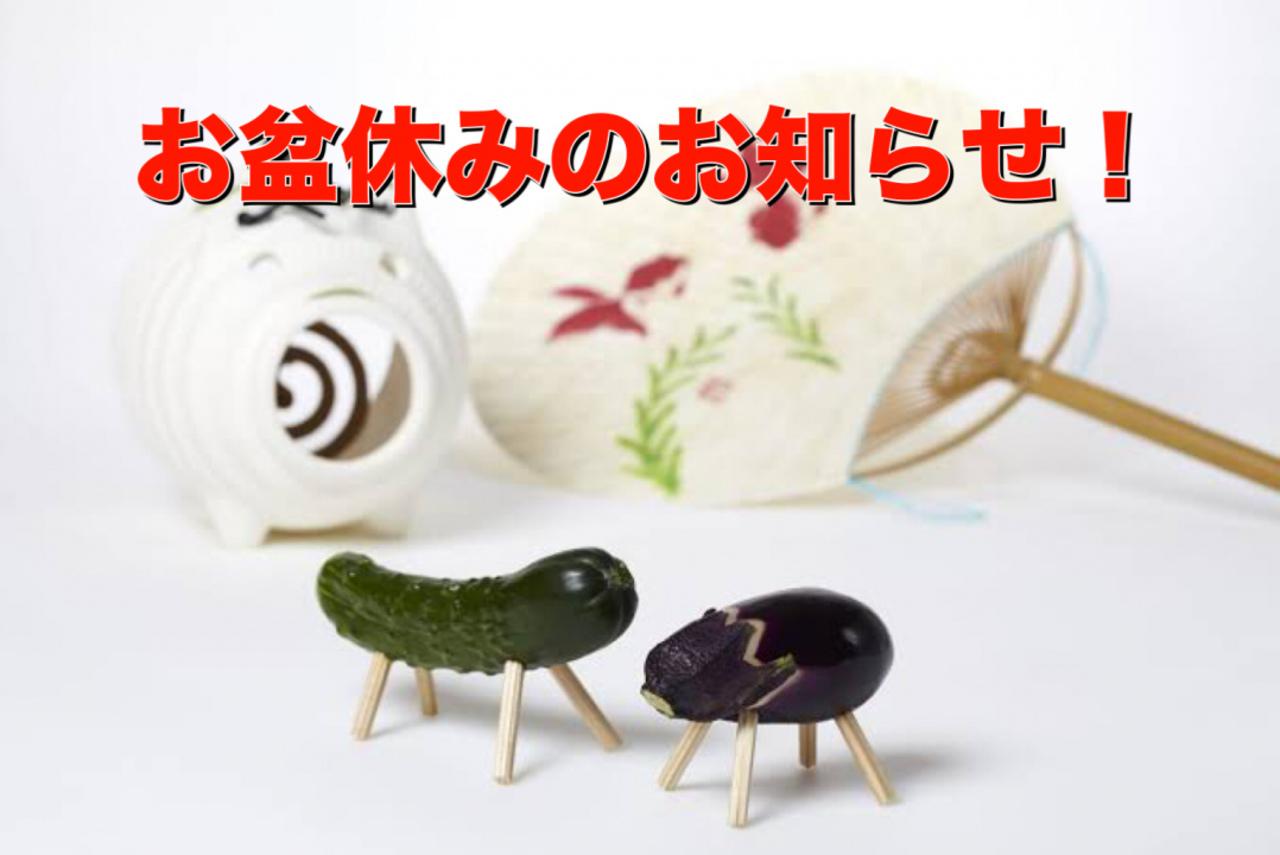 夏季休暇のお知らせ!