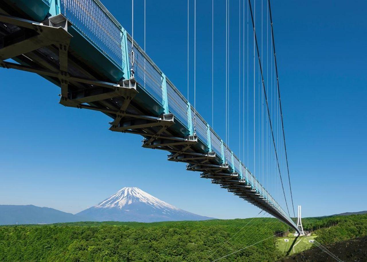 日本最長の富士を望む大吊橋...静岡県三島市笹原新田の「三島スカイウォーク」
