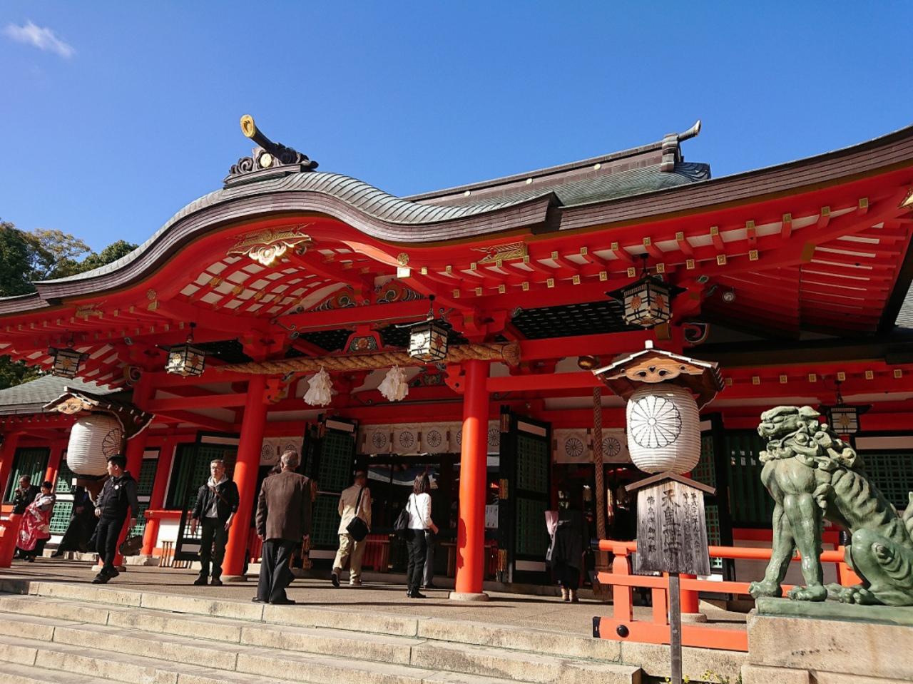 神戸の東天閣本店から生田神社へ。。。