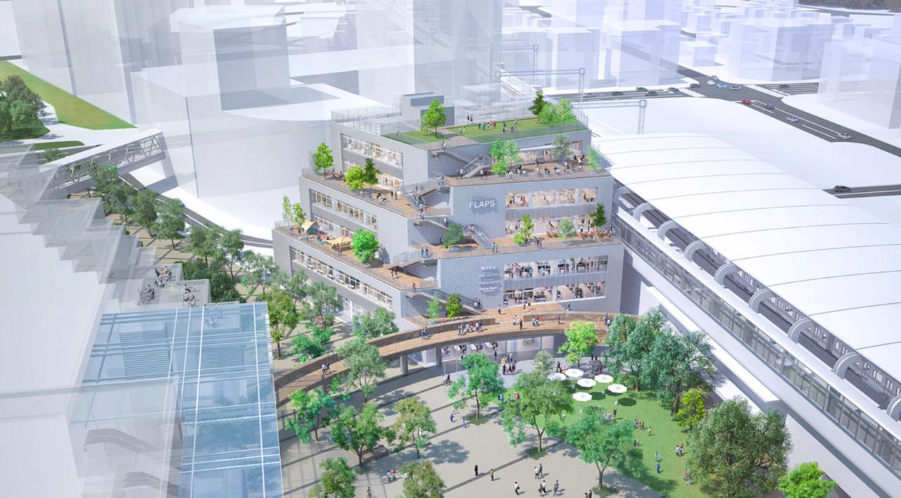 千葉県の流山おおたかの森駅前に商業施設「流山おおたかの森S・C FLAPS」3月31日オープン!