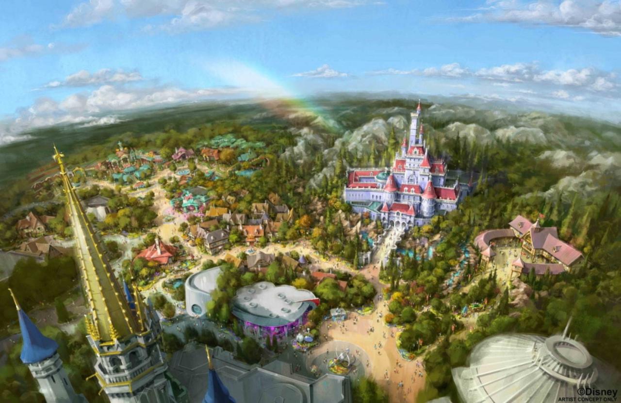 東京ディズニーランドに美女と野獣の世界が広がる「ニューファンタジーランド」が2020年4月オープン