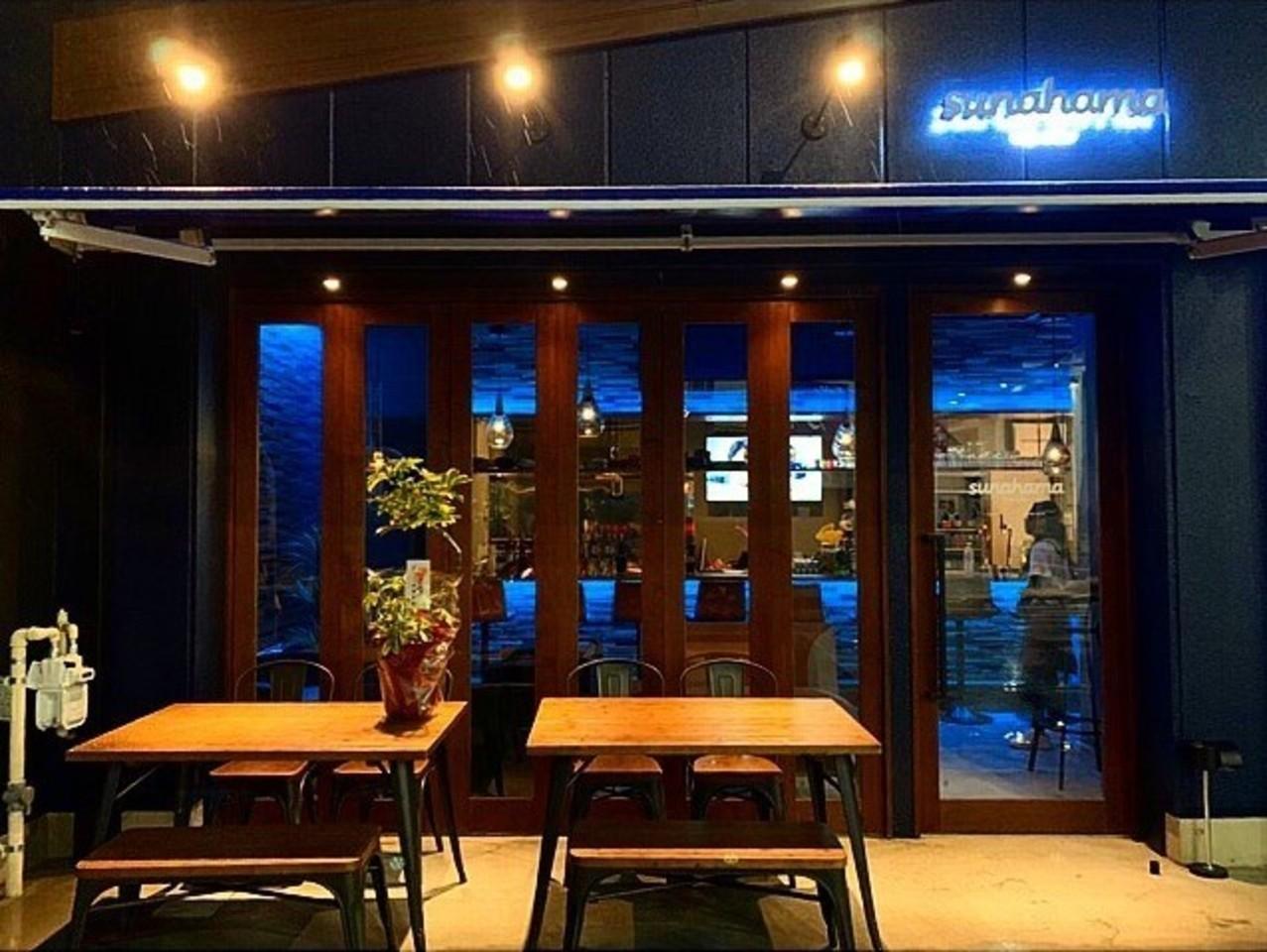 のこぎり長屋の角...愛知県一宮市本町1丁目のカフェ&バー「スナハマ」