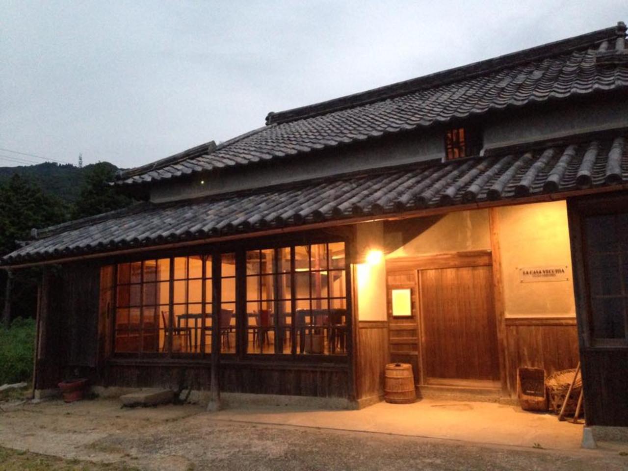 囲炉裏のある古民家のイタリア料理店。。兵庫県淡路市釜口の『ラ カーサ ヴェッキア』