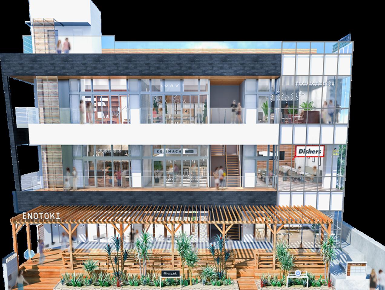 神奈川県藤沢市片瀬海岸に新商業施設「ENOTOKI(エノトキ)」6月8日オープン!
