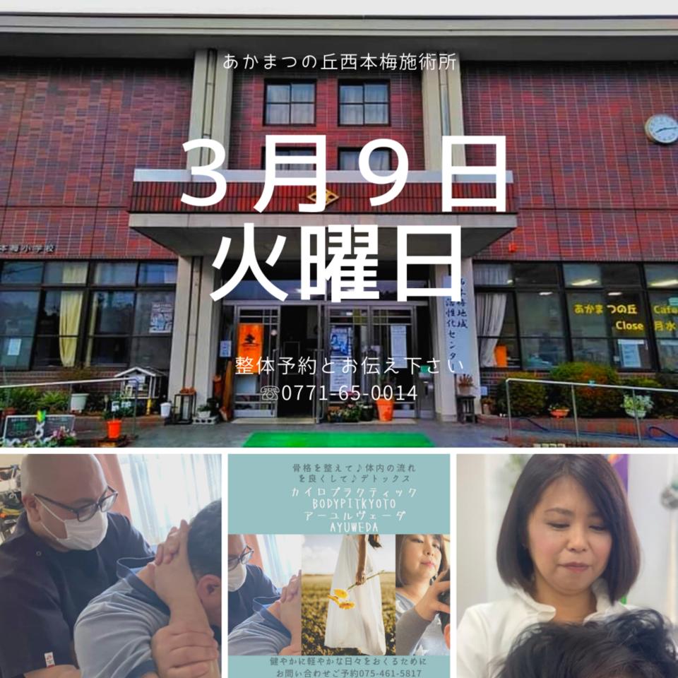 3月9日(火)南丹市園部町あかまつの丘西本梅施術日!