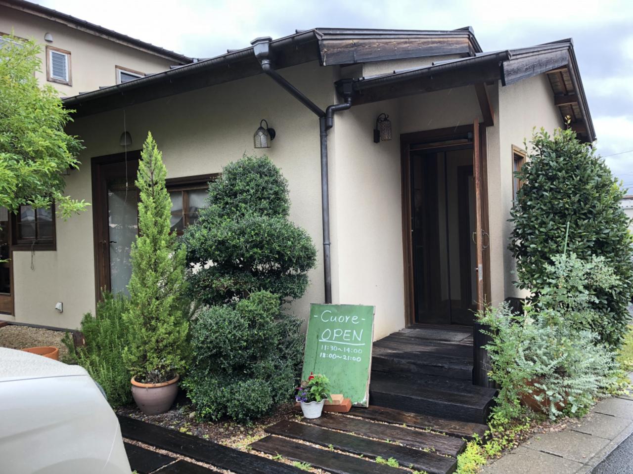 可愛いイタリア料理店クオーレさん。。名張市