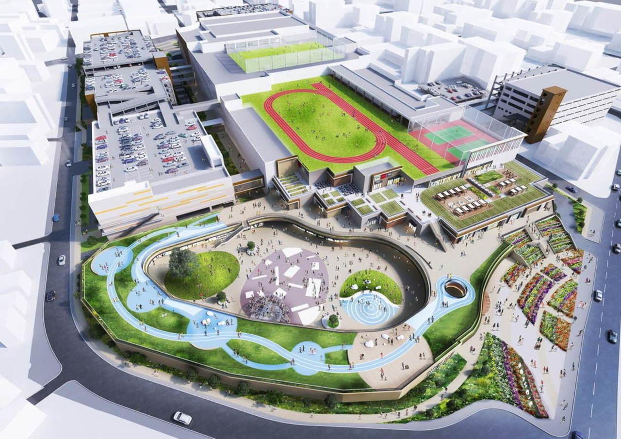 福岡市青果市場跡地にスポーツパーク有する新商業施設2022年春開業予定!
