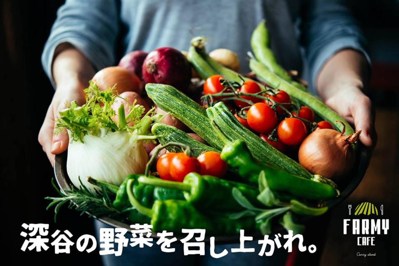 深谷の野菜を召し上がれ...埼玉県深谷市小前田に「ファーミーカフェ」本日オープン