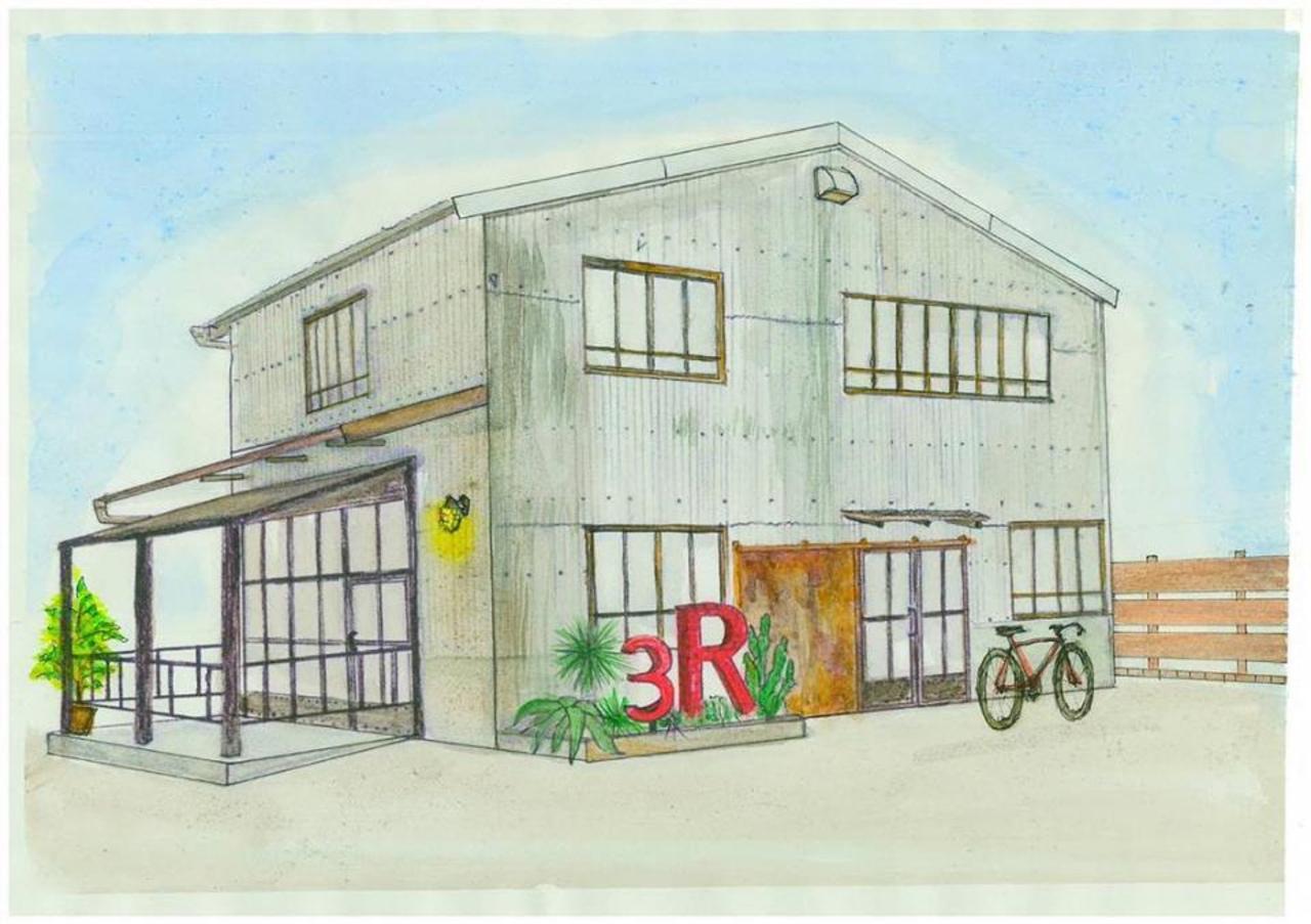 倉庫を改装...静岡県掛川市緑ヶ丘1丁目にハンバーガー&ステーキ店「スリーリングス」本日オープン