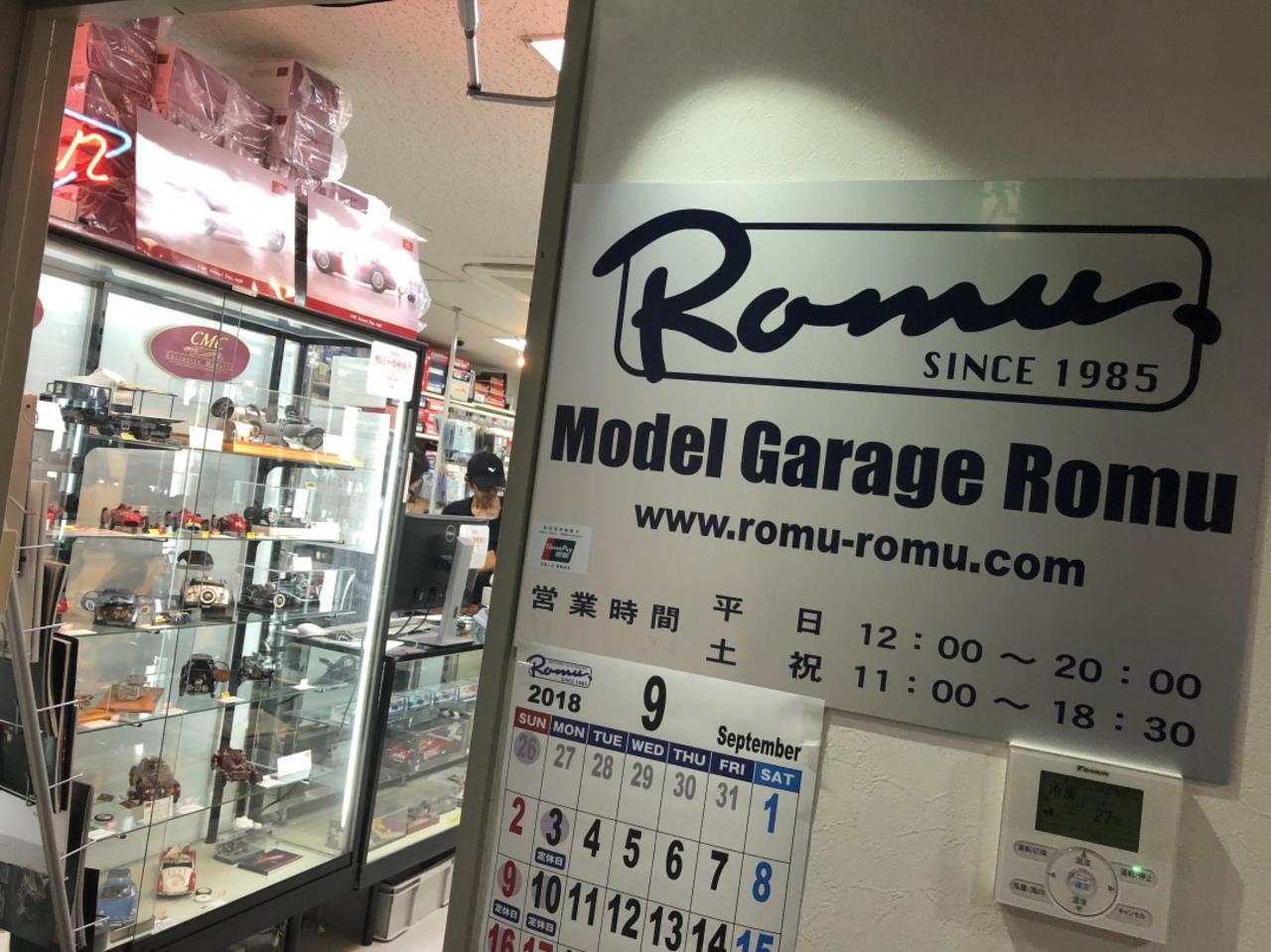 ガレージロム梅田本店へ。