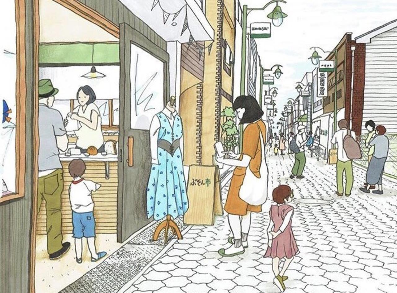 大阪市都島区の蕪村通り商店街の小さな小さなマーケット「ぶそん市」