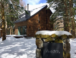 静かな別荘地の森の中の小さなカフェ...長野県軽井沢南ヶ丘の『森のカフェ』