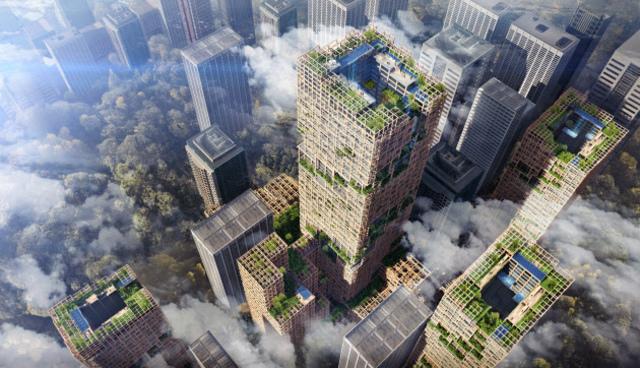 <p>2月8日住友林業は、2041年までに都内に木材超高層ビルを建設する構想を発表</p> <p>建物の大きさは高さ350m、地上70階建て</p> <p>国内で最も高いビルあべのハルカスの約300mより高い</p> <p>店舗、オフィス、ホテルと住居が同居する店舗併用型住宅、総工費は6000億円</p> <p>実現はできるのか?ここに記しておきたいと思います。</p> <p></p> ()