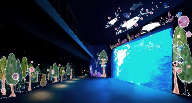 <p>「映像」×「音」×「生きもの」が創り出す 360°大迫力の世界を楽しめる大水槽「いのちきらめく うみ」では、2万5000尾のマイワシたちが主役となり、躍動感あふれる群れの泳ぎで魅了するプレミアムショー。</p> <p>「Sparkling of Life & Music」と河原シンスケ氏が描くキャラクターとの共演「「360°movie 杜と生きる」が楽しめるそうです。</p> <p>「生き抜く力」をテーマにリスやイロワケイルカなどが描かれた河原ワールド全開のアニメーションとの融合美が圧巻!</p> <p>ぜひ訪れたいですね!</p> <p>開催期間2018/3/21~7/8</p> ()