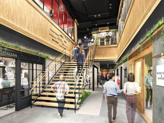 <p>神宮前・原宿エリアに食特化の新商業施設</p> <p>「JINGUMAE COMICHI(ジングウマエコミチ)」9月11日オープン!</p> <p>全国から多彩な飲食店全18店舗が出店、2フロアから成る施設内の小径を挟むように</p> <p>レストランや居酒屋などが連なり、大人が楽しめる賑やかな空間を演出。</p> <p>小径の周りを散策しつつ、いくつもの飲食店をはしごできる空間構成が特徴。。</p> <p>出店:有機野菜と石垣牛のお店 FROM FARM、BEER CELLAR SAPPORO、USAGIYA、<br />大衆酒場ジャンプ、嘉例酒場ワンダーキッチン、ikuru、魚貝と野菜札幌さんど。<br />博多やまや、黒豚・地鶏ダイニング SATSUMA、MOTOMU'S BY KAPPA、美食中華蓮花、<br />立食い寿司根室花まる、パーラーじゃりンこ、ラ・コレール、小籠包マニア、<br />シンシアブルー、Noodle Stand Tokyo、ローマ軒。</p> ()