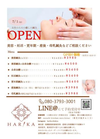 """<p>本日より、OPEN!!!<br /><br />7月1日よりココチキッチン2Fにて、<br />美容鍼灸サロン(HARIKA】をopenされます。<br /><br />◆SALONについて◆<br />鍼灸師・看護師国家資格取得<br />産婦人科看護師9年の経験を活かし、<br />美容・妊活・更年期・産後・母乳鍼灸など、女性のための癒しの鍼灸治療を行います。<br />西洋医学、東洋医学を取り入れた鍼灸治療です。<br />あなたにあったオーダーメイドの治療を行います。<br />訪問治療も行っておりますのでお問い合わせください。<br /><br /><br />8月31日までは、OPEN価格でご利用頂けます。<br /><br /><br />【お問い合わせ・ご予約】<br />instagram: @harika.shinkyu <br />tell:080-3793-3001<br />営業時間:10:30〜19:00<br />※完全予約制</p><div class=""""thumnail post_thumb""""><a href=""""""""><h3 class=""""sitetitle""""></h3><p class=""""description""""></p></a></div> ()"""