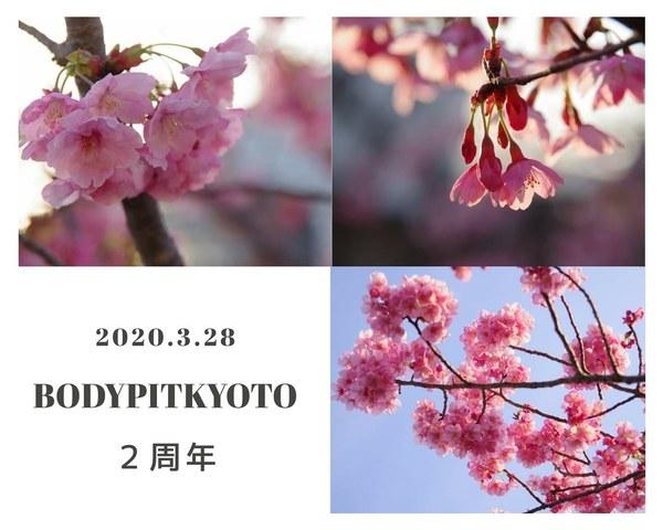 <p>BODYPITKYOTO院長藤崎進一です。</p> <p>3月28日(土)お陰さまで二周年を迎えます!</p> <p>支えていただきありがとうございます!</p> ()